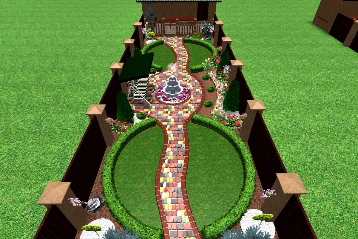 клумба прикраса двору