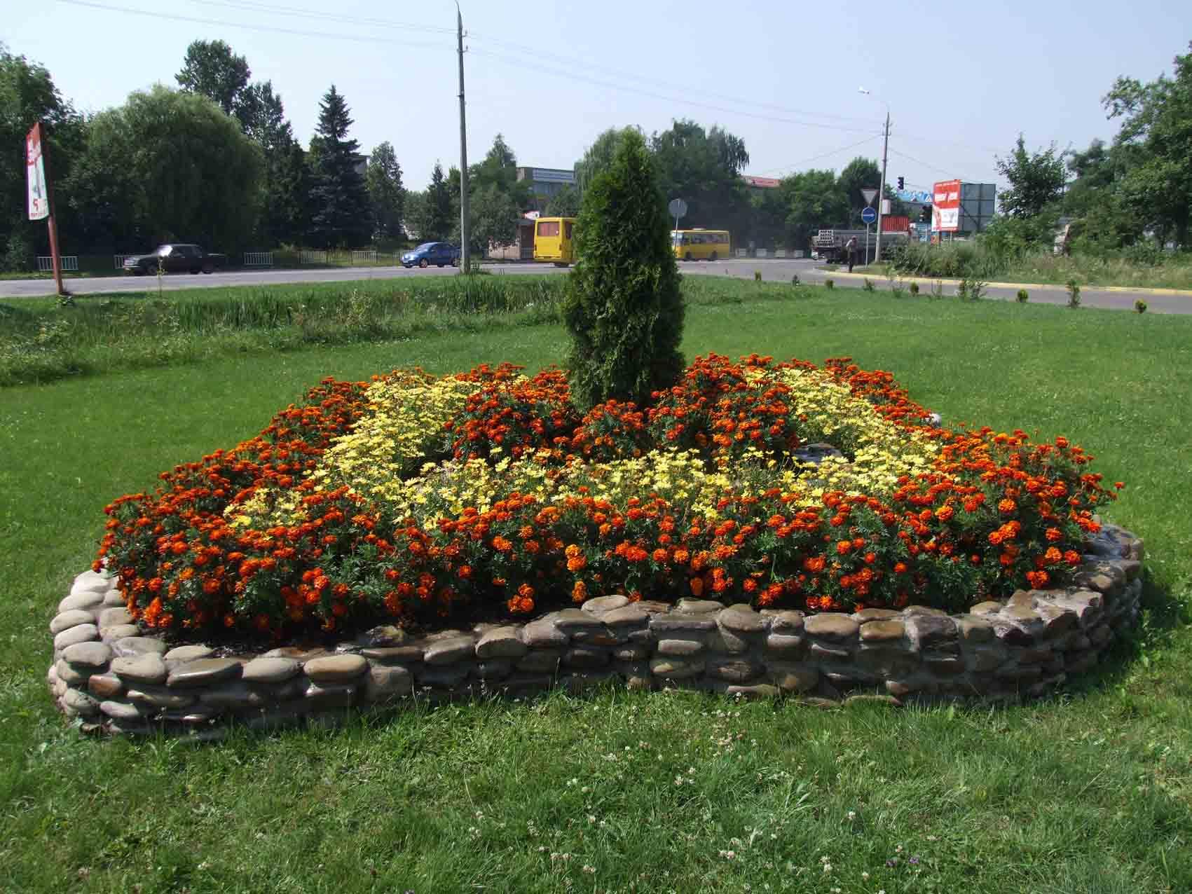 готові схеми квітників і клумб